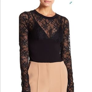 Kendall & Kylie Long Sleeve Lace Bodysuit